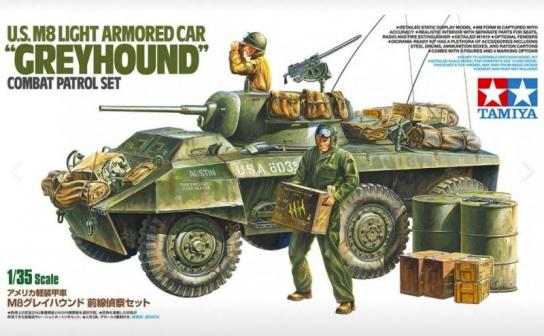 Tamiya 1/35 U.S M8 Armoured Car 'Greyhound' Combat Patrol Set image