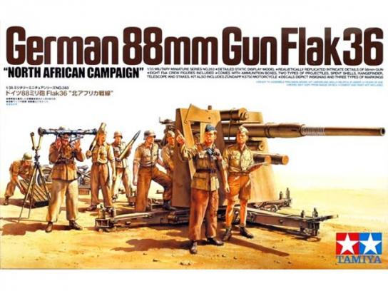 Tamiya 1/35 88mm Gun Flak36 North Africa image
