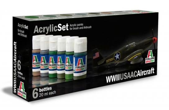 Italeri USAAC Aircraft Paint Set image