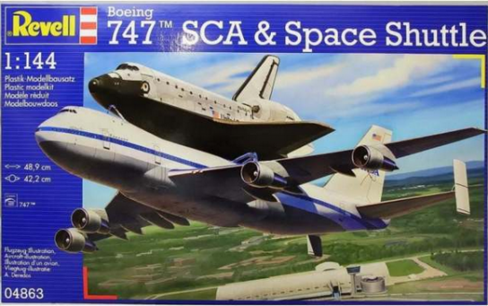 Revell 1/144 Space Shuttle & Boeing 747 SCA image