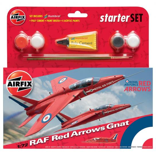 Airfix 1/72 Red Arrow Gnat Model Set image