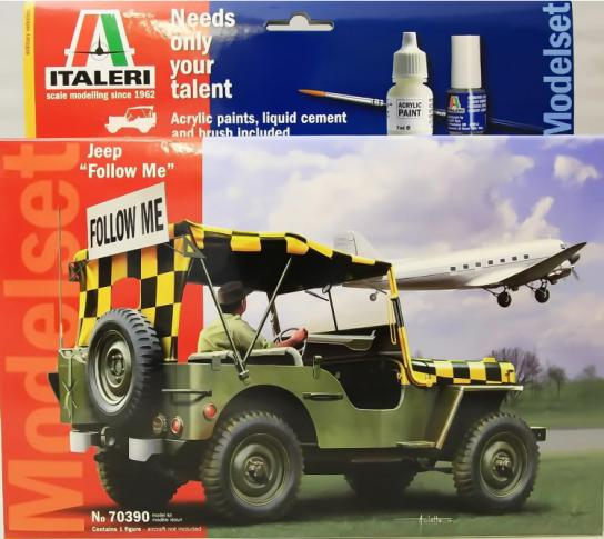 "Italeri 1/72 Willys Jeep ""Follow Me"" -Model Set image"