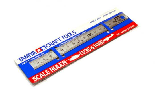 Tamiya Scale Steel Ruler 1/35 & 1/48 image