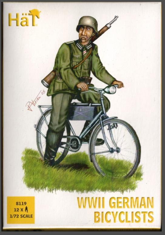 HaT 1/72 WWII German Bicyclists (12 Pcs) image