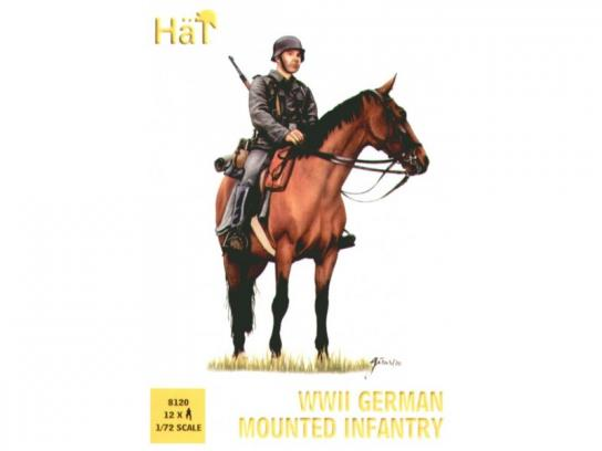 HaT 1/72 WWII German Mounted Infantry (12 Pcs) image