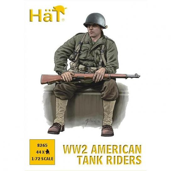 HaT 1/72 WWII American Tank Riders (44 Pcs) image