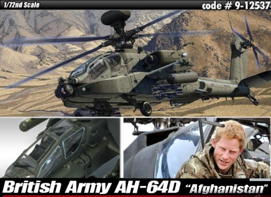 "Academy 1/72 AH-64 Apache British Army ""Afghanistan"" image"