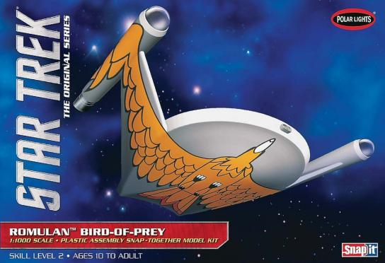 Polar Lights 1/1000 Star Trek Romulan Bird of Prey Snap Kit image