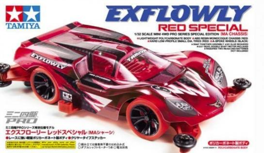 Tamiya Mini 4WD Exflowly Red - Limited Edition image