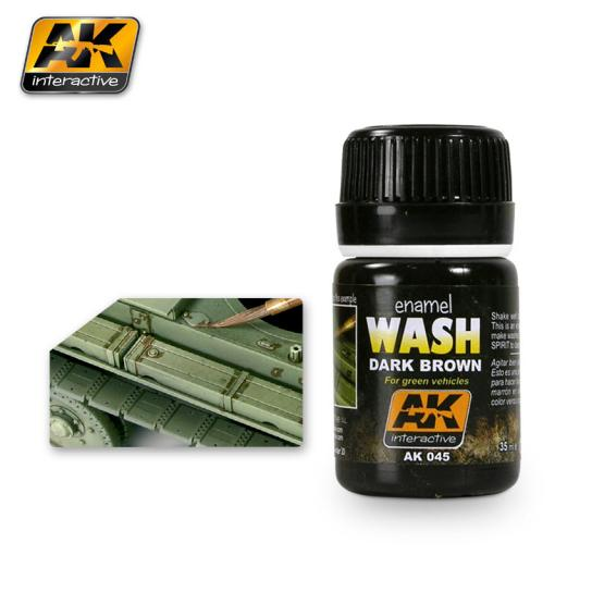 AK Interactive Dark Wash for Green Vehicles Effects image