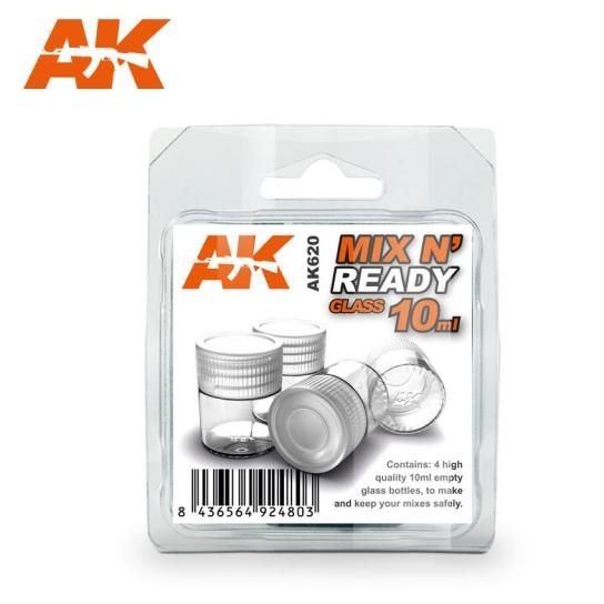 AK Interactive Paint Tools Mix n Ready 10mL Glass (4) image
