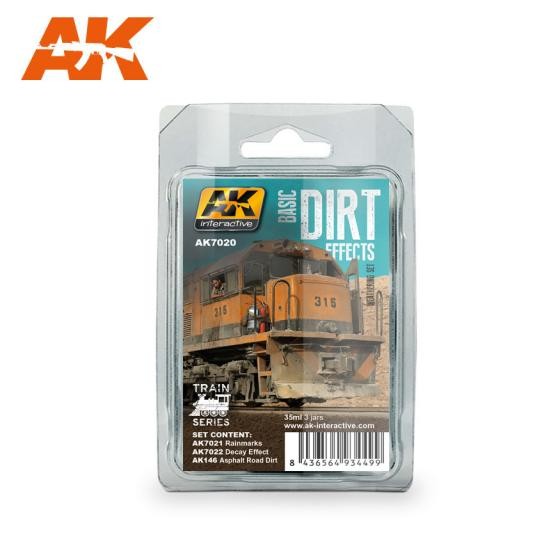 AK Interactive Trains Weathering Set - Basic Dirt image