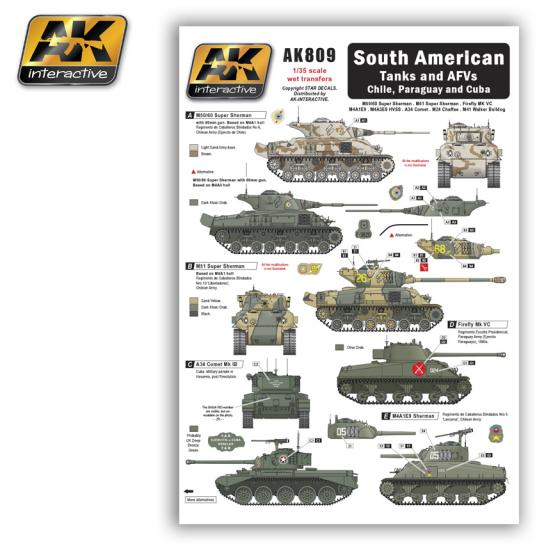 AK Interactive Decals South American Tanks & AFV's image