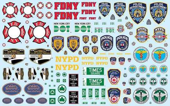 AMT 1/25 NYC Auxiliary Service Logo Decal Pack image